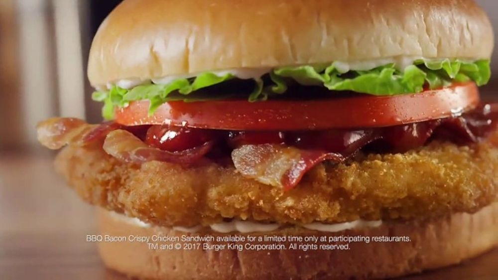 Burger King BBQ Bacon Crispy Chicken Sandwich TV Commercial Lost In The Sauce