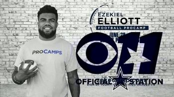 2017 Ezekiel Elliott Football ProCamp TV Spot, 'CBS 11: Join Us' - Thumbnail 1