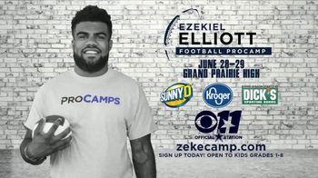 2017 Ezekiel Elliott Football ProCamp TV Spot, 'CBS 11: Join Us' - Thumbnail 10