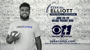 2017 Ezekiel Elliott Football ProCamp TV Spot, 'CBS 11: Join Us' - Thumbnail 2