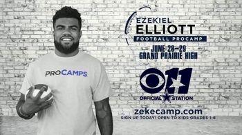 2017 Ezekiel Elliott Football ProCamp TV Spot, 'CBS 11: Join Us' - Thumbnail 3