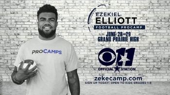 2017 Ezekiel Elliott Football ProCamp TV Spot, 'CBS 11: Join Us' - Thumbnail 4