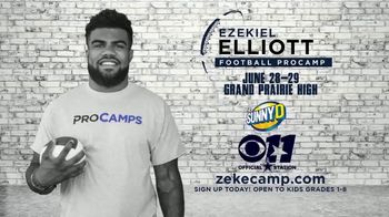 2017 Ezekiel Elliott Football ProCamp TV Spot, 'CBS 11: Join Us' - Thumbnail 5