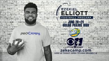 2017 Ezekiel Elliott Football ProCamp TV Spot, 'CBS 11: Join Us' - Thumbnail 6
