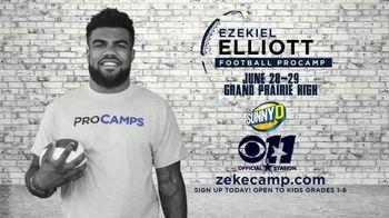 2017 Ezekiel Elliott Football ProCamp TV Spot, 'CBS 11: Join Us' - Thumbnail 7
