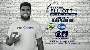 2017 Ezekiel Elliott Football ProCamp TV Spot, 'CBS 11: Join Us' - Thumbnail 8