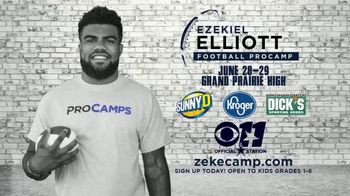 2017 Ezekiel Elliott Football ProCamp TV Spot, 'CBS 11: Join Us' - Thumbnail 9