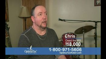 Optima Tax Relief TV Spot, 'Chris Owed the IRS'