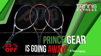 Tennis Express TV Spot, 'Prince Gear Is Going Away: Free Shipping'