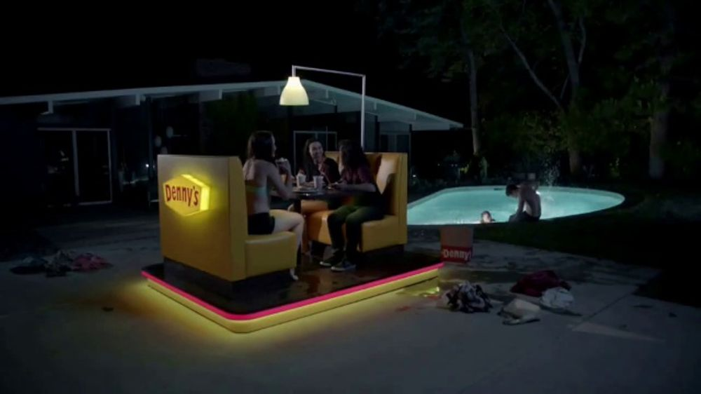 Denny's on Demand TV Commercial, 'Pancakes at the Neighbors Pool? YEP'