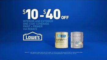 Lowe's TV Spot, 'Paint Rebate' - Thumbnail 5