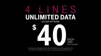T-Mobile Unlimited Data TV Spot, '4 Unlimited Lines For $40 Each' - Thumbnail 4