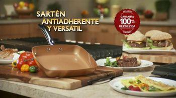 Copper Chef Fry Pan TV Spot, 'Sartén versátil' [Spanish] - 18 commercial airings