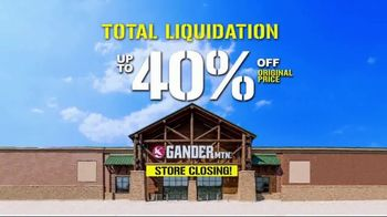 Gander Mountain TV Spot, 'Total Liquidation'