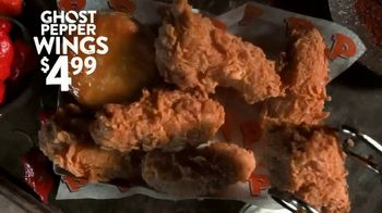 Popeyes Ghost Pepper Wings TV Spot, 'Taste the Mystery' - Thumbnail 4