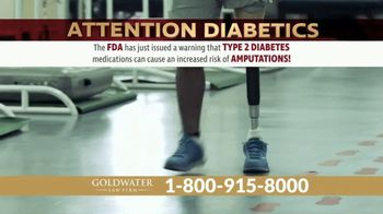 Goldwater Law Firm TV Spot, 'Diabetes Amputations' - Thumbnail 1