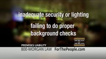 Morgan and Morgan Law Firm TV Spot, 'Criminal Acts at Work' - Thumbnail 7