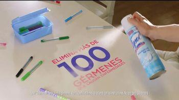 Lysol Disinfecting Spray TV Spot, 'Hasta aquí llega el virus' [Spanish] - Thumbnail 7