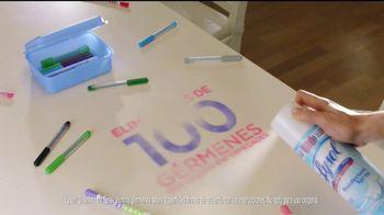 Lysol Disinfecting Spray TV Spot, 'Hasta aquí llega el virus' [Spanish] - Thumbnail 8