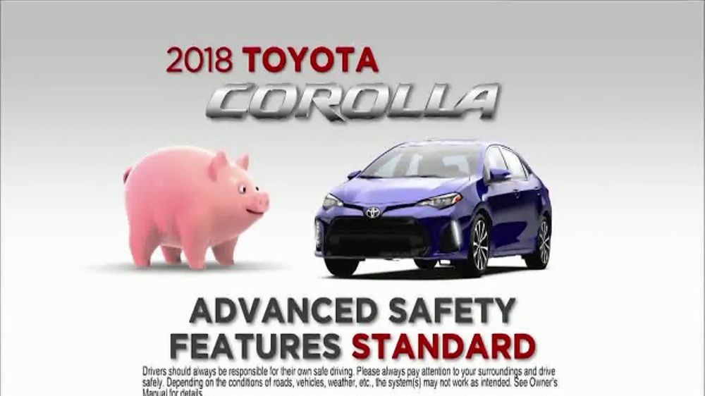Honda Civic Commercial >> 2018 Toyota Corolla TV Commercial, 'Save on Safety: Piggy Bank' [T1] - iSpot.tv