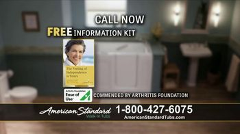 American Standard Walk In Tubs Tv Commercial Stay Safe