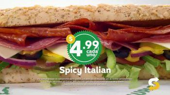 Subway $4.99 Footlongs TV Spot, 'Que suerte' [Spanish] - Thumbnail 3
