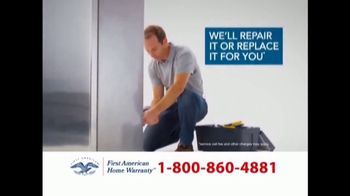 First American Home Warranty Plan TV Spot, \'Repair or Replace\'
