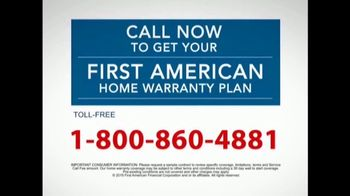 First American Home Warranty Plan TV Spot, 'Repair or Replace' - Thumbnail 8