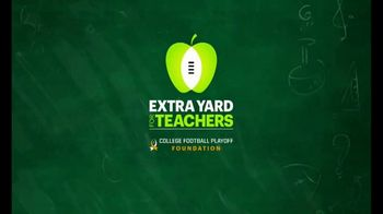 College Football Playoff Foundation TV Spot, 'Thank You, Teachers' - 2 commercial airings