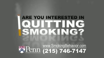 University of Pennsylvania TV Spot, 'Smoking Behavior Study' - Thumbnail 1