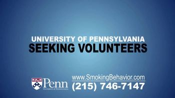 University of Pennsylvania TV Spot, 'Smoking Behavior Study' - Thumbnail 2