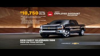 Chevy Employee Discount for Everyone TV Spot, 'New Year: 2018 Silverado' [T2] - Thumbnail 8