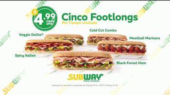 Subway $4.99 Footlongs TV Spot, 'Casi nada' [Spanish] - Thumbnail 8
