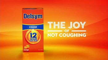 Delsym 12-Hour Cough Relief TV Spot, 'The Joy of Not Coughing' - Thumbnail 9
