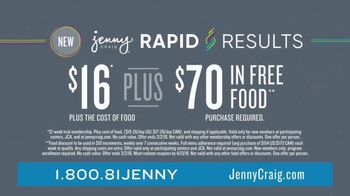 Jenny Craig Rapid Results TV Spot, 'One-On-One Support' - Thumbnail 10