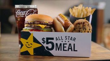 Carl's Jr. $5 All Star Meals TV Spot, 'All Kinds of Goodness' - Thumbnail 4