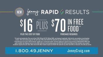 Jenny Craig Rapid Results TV Spot, 'Staying on Track' - Thumbnail 9