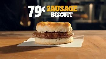 Burger King Sausage Biscuit TV Spot, 'Freshly Baked'