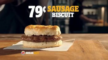 Burger King Sausage Biscuit TV Spot, 'Freshly Baked' - Thumbnail 5