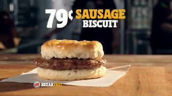 Burger King Sausage Biscuit TV Spot, 'Freshly Baked' - Thumbnail 6