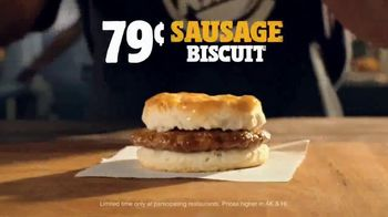 Burger King Sausage Biscuit TV Spot, 'Freshly Baked' - Thumbnail 9