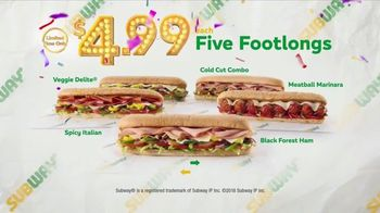 Subway $4.99 Footlong TV Spot, 'Price Is Right' - Thumbnail 8