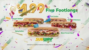 Subway $4.99 Footlong TV Spot, 'Price Is Right' - Thumbnail 9