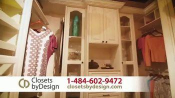 Closets by Design TV Spot, 'Custom Home Storage Needs' - Thumbnail 3