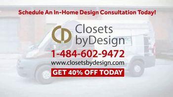 Closets by Design TV Spot, 'Custom Home Storage Needs' - Thumbnail 8