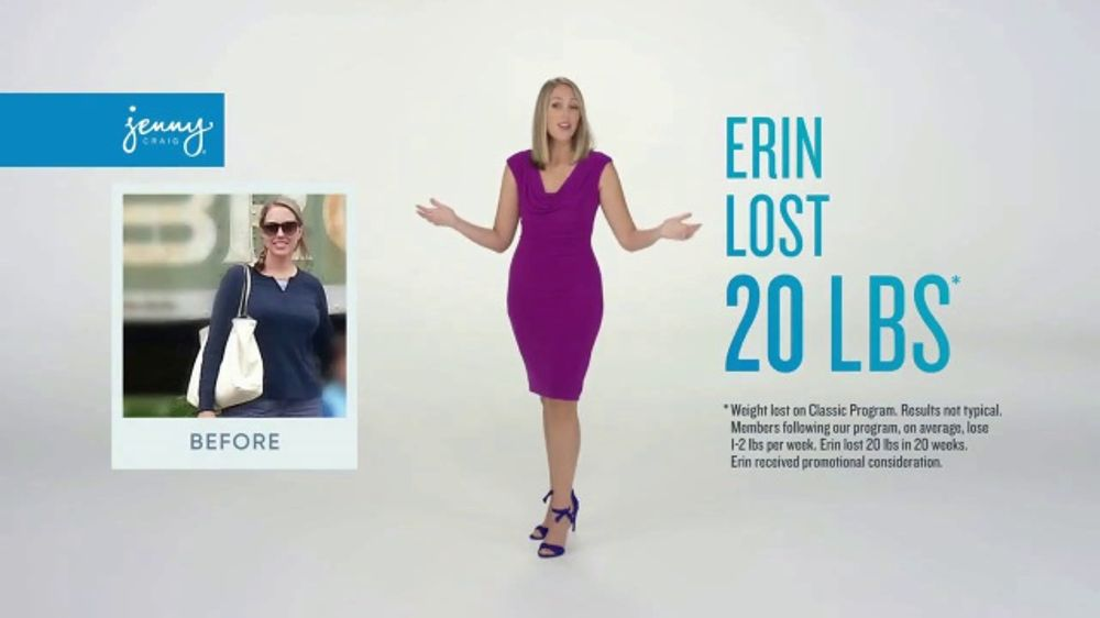 Jenny Craig Rapid Results TV Commercial, 'Erin: $100 in Free Food'