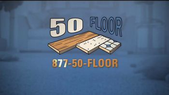 50 Floor 60 Percent Off Sale TV Spot, 'Tired Floors' Featuring Richard Karn - Thumbnail 9