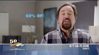 50 Floor 60 Percent Off Sale TV Spot, 'Tired Floors' Featuring Richard Karn - Thumbnail 6