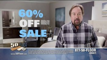 50 Floor 60 Percent Off Sale TV Spot, 'Tired Floors' Featuring Richard Karn - 1 commercial airings