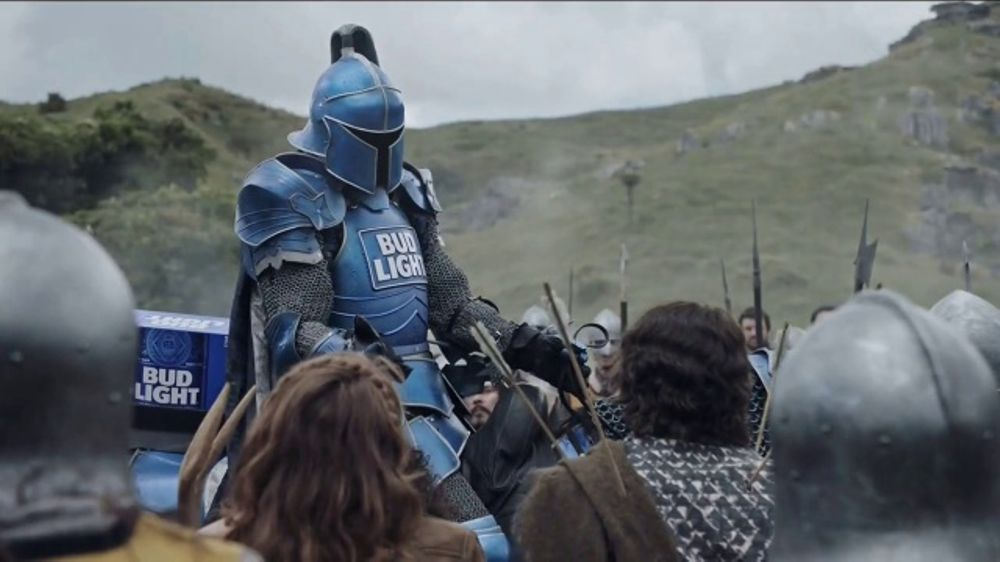 Bud light super bowl 2018 tv commercial the bud knight ispot aloadofball Choice Image
